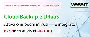 Veeam e i suoi partner mettono in palio 200 MILIONI DI $ in servizi Cloud
