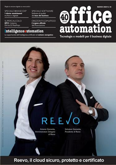 Reevo e il suo cloud Made in Italy per la copertina di Office Automation